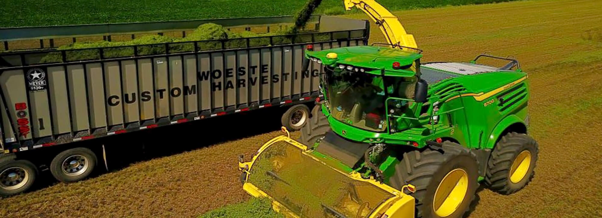 John Deere Forage Harvester chopping hay